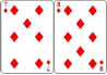 A poker hand with 7,8 of diamonds