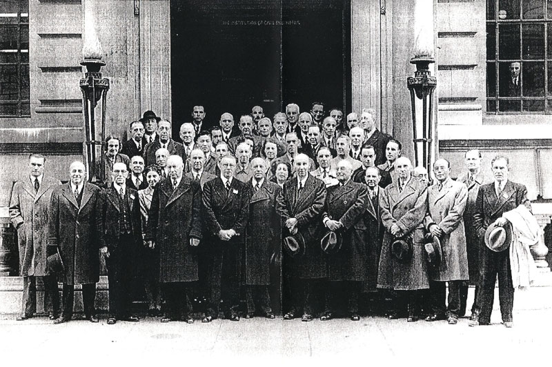 Founders of ISO on photo taken 1946